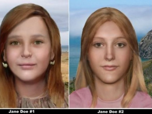 Forensic reconstruction of Graham and Trimble made by National Center for Missing & Exploited Children.