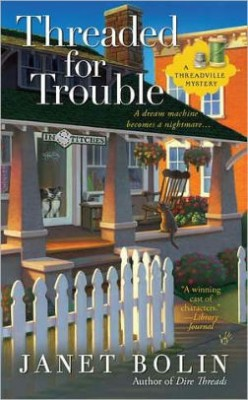 Book Review: Threaded for Trouble by Janet Bolin