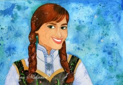 How to Paint Anna From Once Upon a Time With Watercolors