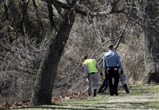 Washington Metro Police searching Kenilworth Park in D.C. on March 31, 2014.