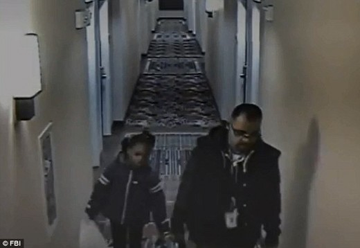 Tatum caught on surveillance video leading Rudd into a hotel room in Maryland.