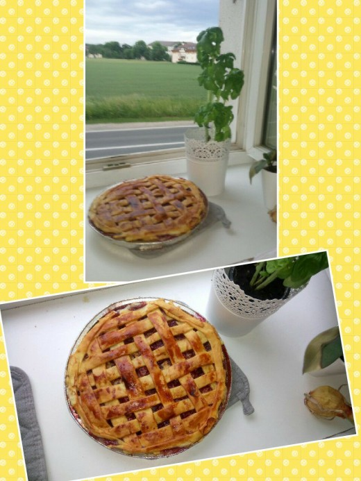 Perfect cherry pie for farm house living!