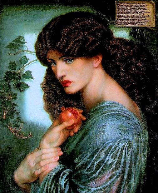 Greek goddess Persephone represents a female archetype of a mystic. She is depicted as a young, beautiful woman carrying a cornucopia or pomegranate.