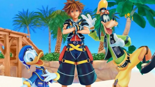 Sora, Donald, and Goofy.