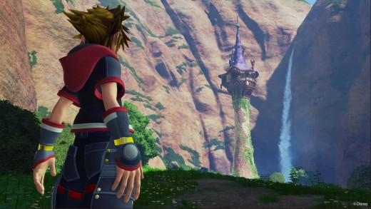 Sora in the Tangled world.