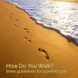 How Do You Walk? 3 Guidelines for a Perfect Gait