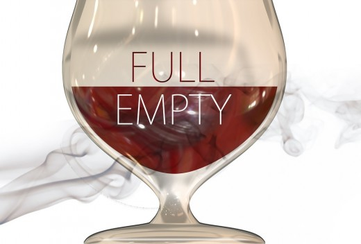 Seeing the glass half full shows that you are optimistic.  A good attitude brings more success and better health.