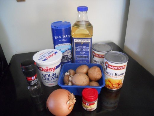 Bean Stroganoff Ingredients