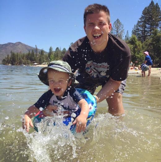 Taking my brother to Brandy Creek at Whiskeytown Lake