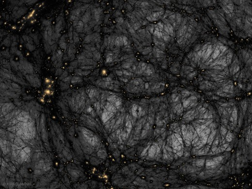 Dark Matter in a Simulated Universe  Illustration Credit & Copyright Tom Abel & Ralf Kaehler (KIPAC, SLAC), AMNH