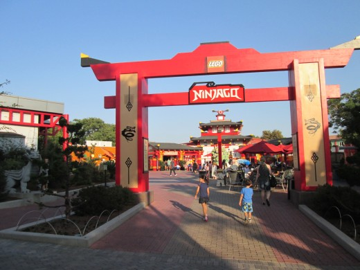 Ninjago - the latest ride at Legoland opened in 2017.