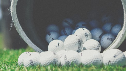 Golf balls are one of the top-selling items online.
