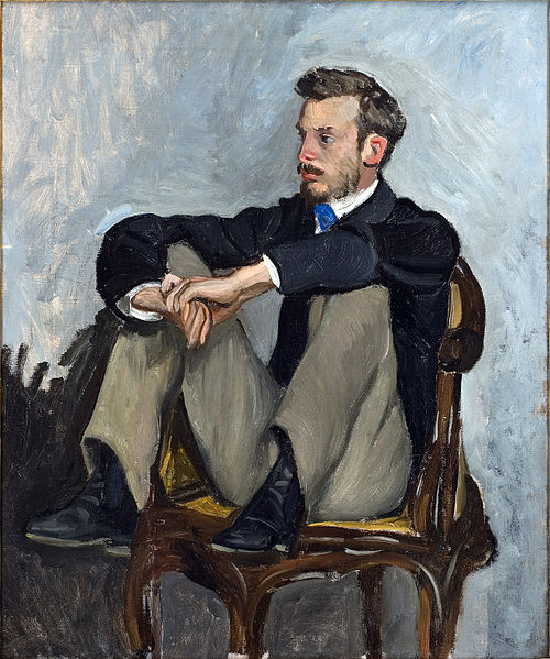 Pierre-Auguste Renoir - this is an oil on canvas portrait painting done of Renoir by another artist, Frédéric Bazille (1841–1870).