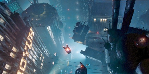 Cool City Shot From Blade Runner 1982.  Graphics And Cinematography Not Significantly Better In Blade Runner 2049.