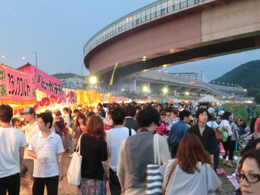 Vendors along the Inagawa River