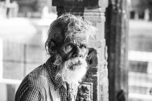 Photo of homeless man