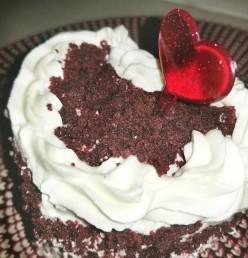 Mini Red Velvet Heart Cake