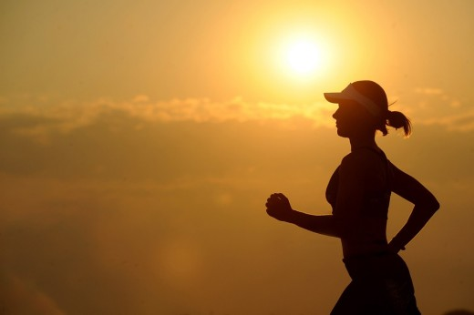 Often you can get a 'runner's high' from the natural painkilling effect of endorphins