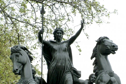 A statue of Boudicca stands in Westminster to commemorate her bravery.
