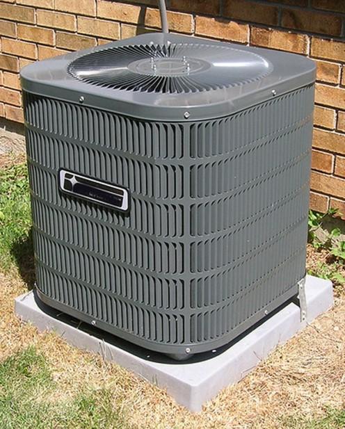 An HVAC technician will also check the exterior condenser unit.