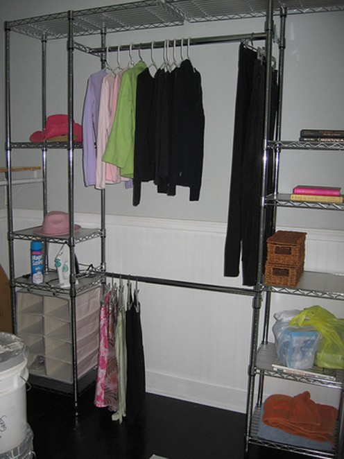 Keep the guest room closet clutter free.