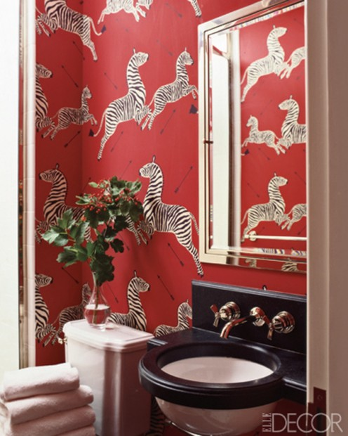 Powder rooms should have flamboyant lighting.
