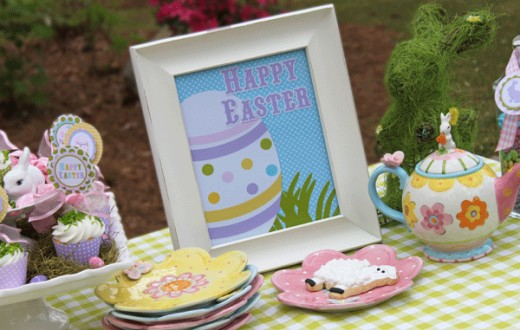 Complete free kit for your Easter parrty or brunch