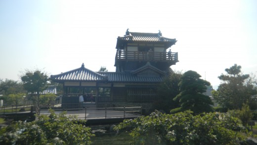 Ikeda Castle on a summer day