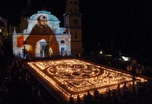 Luminaria di San Domenica held at the San Luca Piazza
