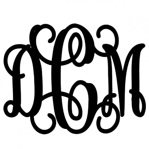 Scrolled monograms have a distinctive formal appearance.
