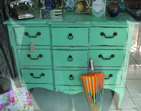 Give furniture new life with a coat of paint.
