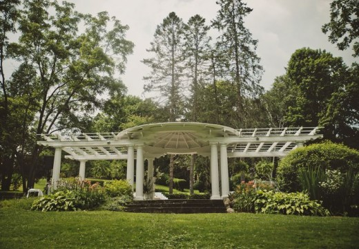The Pergola overlooking the Grand River, a favorite site for weddings and receptions