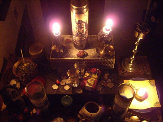 Your altar can include nearly anything you find sacred. It can be as detailed or discreet as you'd like.