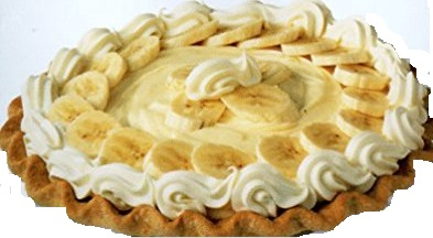 Banana pudding and banana cream pies were favorites of my 13th cousin, Elvis Presley.