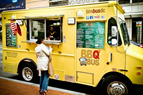 Food trucks like this one have become so popular that cookbooks full of their recipes are everywhere!