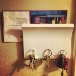 How To Make A Simple Wall Key Holder