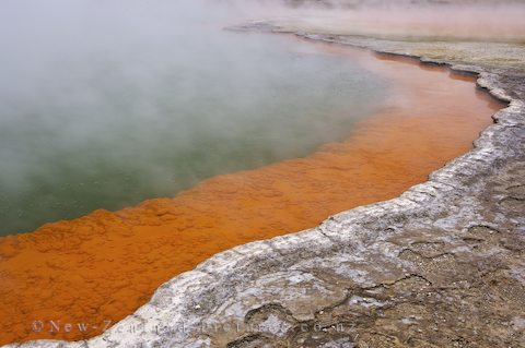 These hot springs are not too deep or too hot to bathe in.