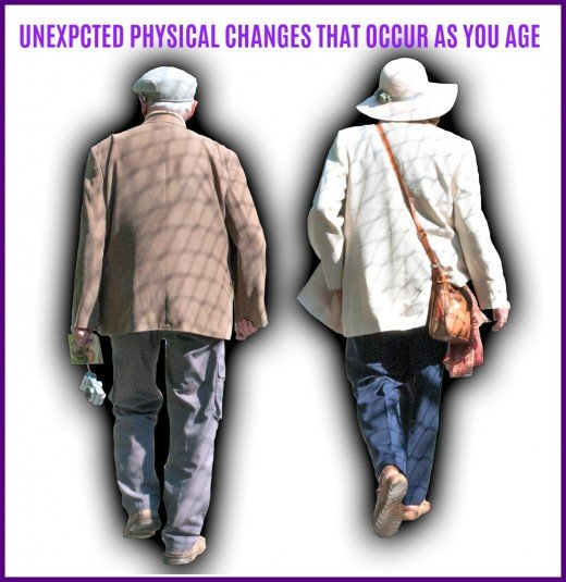 Subtle and not so subtle physical changes that happen to people as they grow older.