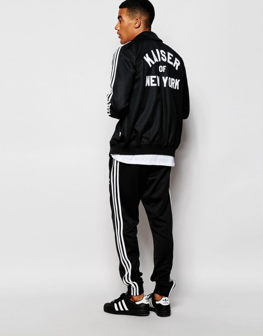 Tracksuits from Adidas, Nike, and other athletic brands are also extremely popular due to the comfort and utility of them, as well as the warmth provided during colder months.
