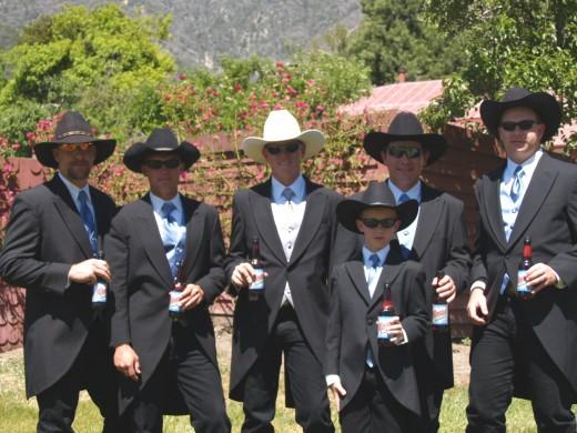 Wedding Tuxedo With Cowboy Boots