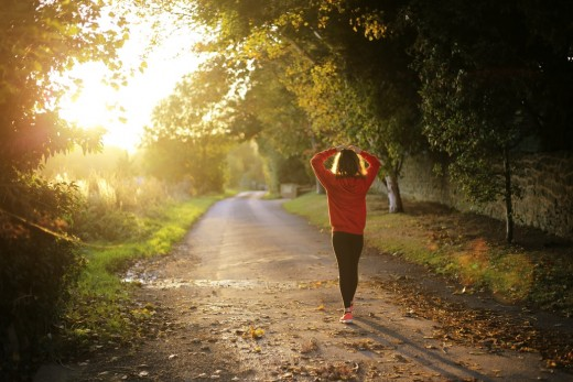 You can start by going for a quick morning run.