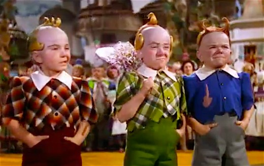 Jerry Maren, seen in the middle, was the last surviving Munchkin until his death in May 2018.