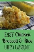 Easy Chicken Broccoli & Rice Cheesy Casserole
