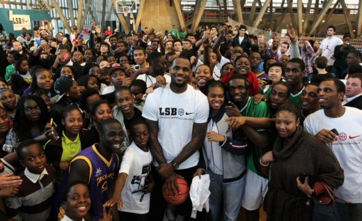 NBA superstar LeBron James giving back to the community