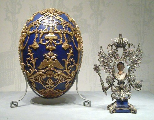 Easter Egg containing a framed photograph of Tsarevich Alexei Nikolaevich of Russia Now in the Virginia Museum of Fine Arts