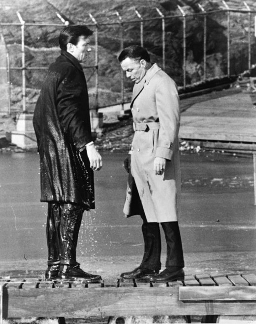 "A chance convergence of a red queen and someone using the popular phrase, ""go jump in a lake"", resulted in Raymond in a lake in New York's Central Park."