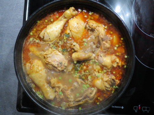 chicken curry when finished cooking