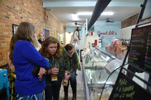 The Tapas Trot finished at Sweet Lili's for some ice cream samples.