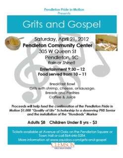 Grits and Gospel in Historic Pendleton SC