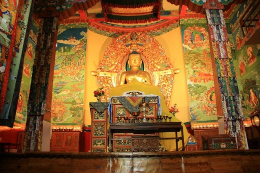 Sakyamuni Buddha idol, Tsuglagkhang complex (Dalai lama temple) , Mcleod Ganj